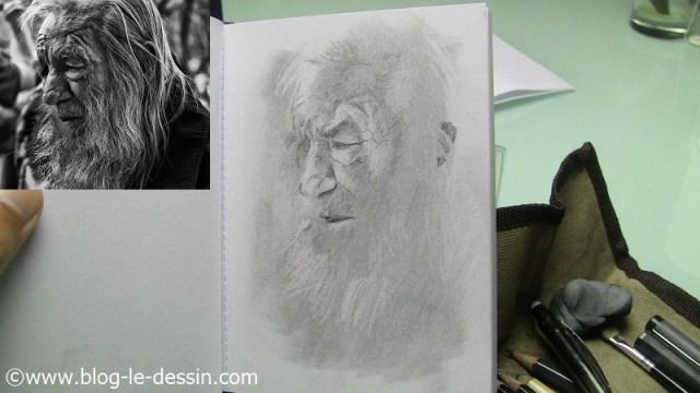 portrait vieil homme pousser le contraste
