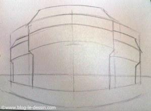 apprendre a dessiner perspective esquisser position toit