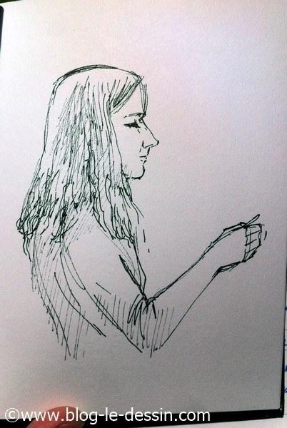 dessiner une fille croquis