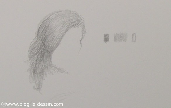 Choisir le bon gris pour dessiner les cheveux qui sont roux