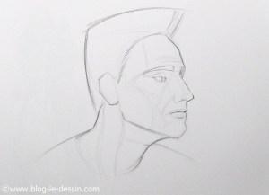 dessiner les poils de barbe homme