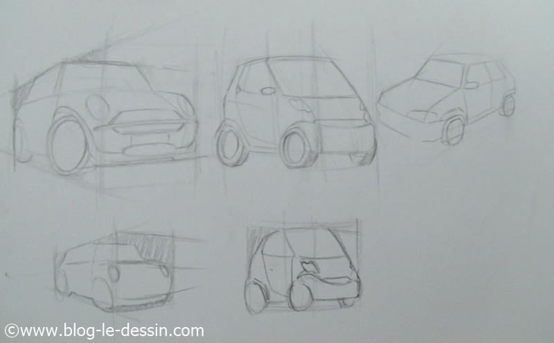 La perspective simple pour dessiner les voitures blog le - Voiture simple a dessiner ...