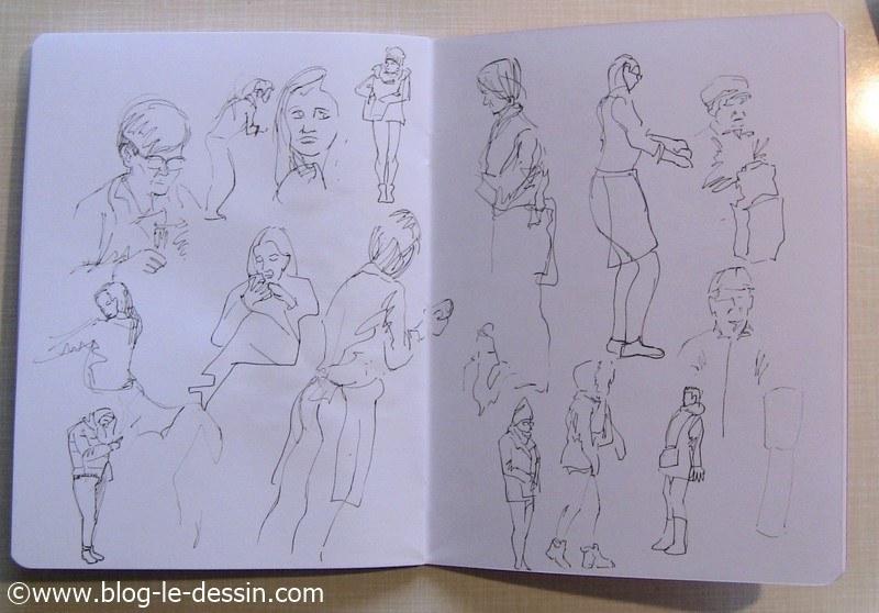 exemples dessin feutre croquis