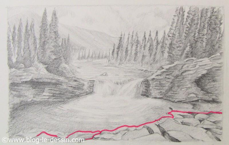 exemple premier plan modifie pour crayon de papier et paysage a dessiner
