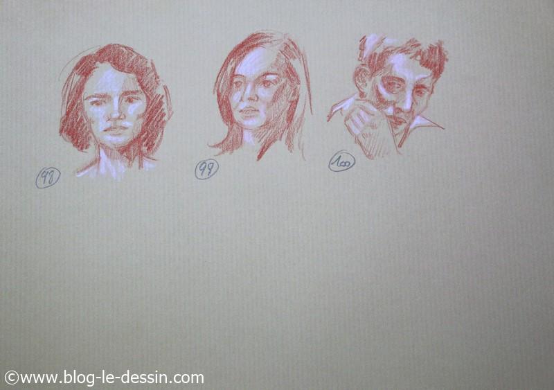 images dessins faciles a faire portrait