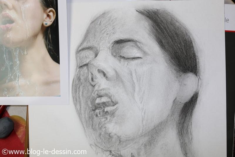 ombres eau peau portrait femme dessine
