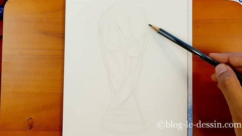 Le croquis de la coupe du monde au crayon 7B