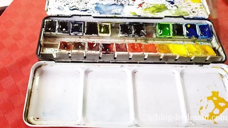 couleurs aquarelle palette
