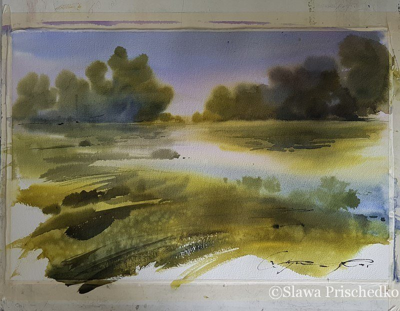 aquarelle Slawa Prischedko