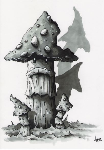 remplissage marqueur fantasy art personnage