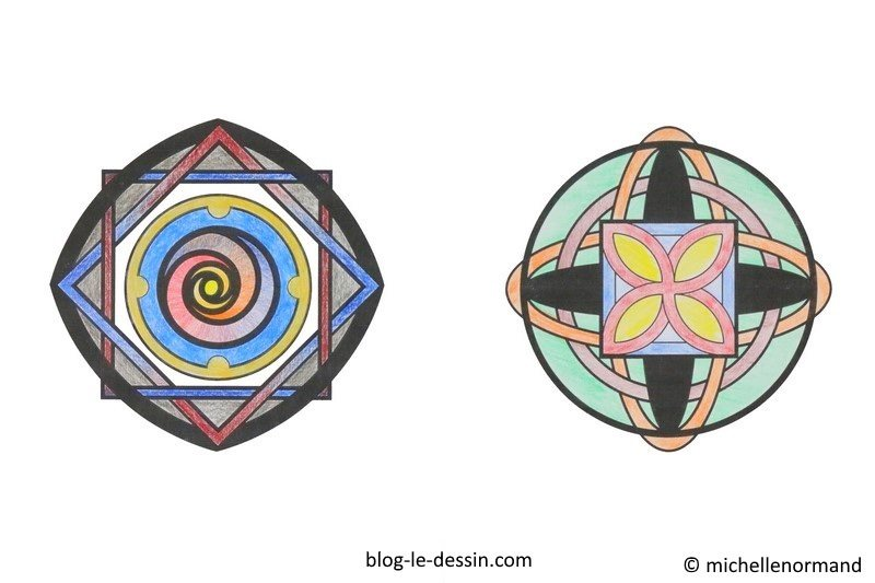 Faire un coloriage anti-stress en couleur, mandala, coloriage de mandala