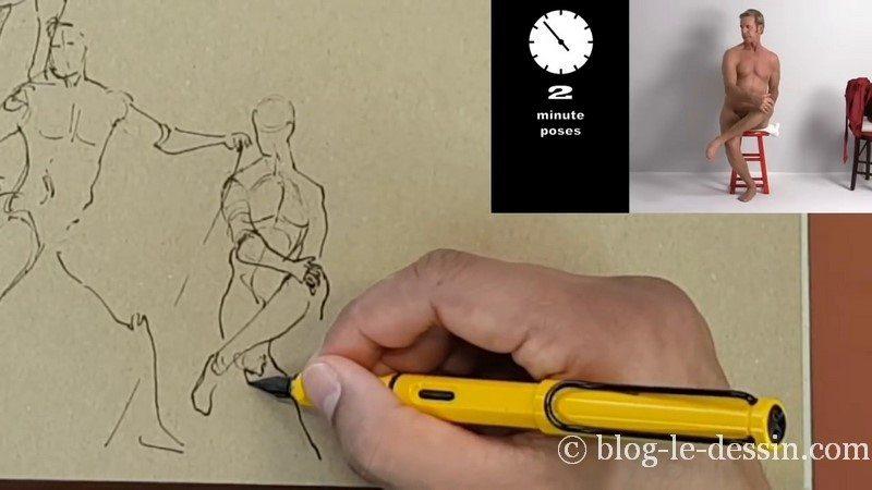 dessiner homme assis