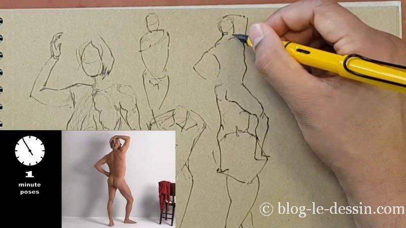 dessiner homme de dos