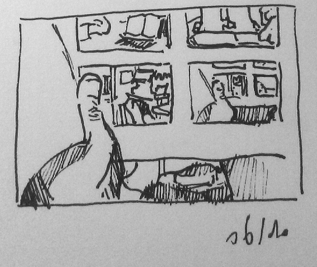dessiner dans le métro