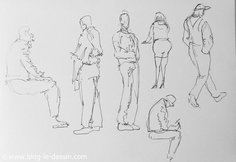 dessiner des croquis rapides