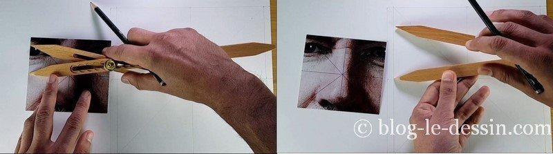 dessiner les proportions parfaites avec le compas