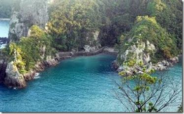 Photo et copyright Mark J. Palmer - La Baie de Taiji sans dauphin, le 1er septembre 2009