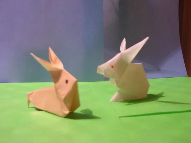 折り紙のうさぎの写真
