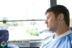 Sean Jackson on the bus