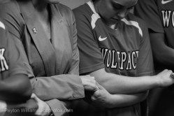 It was obvious at the outset of starting this project that the bond between Coach Harper and the players was very strong. They love her; it's obvious every time I was around the team.