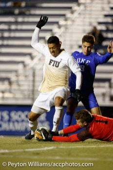 2017 November 19: Florida International University Panthers during a 1-2 loss to the Duke Blue Devils at Koskinen Stadium in Durham, NC. (Photo by Peyton Williams)