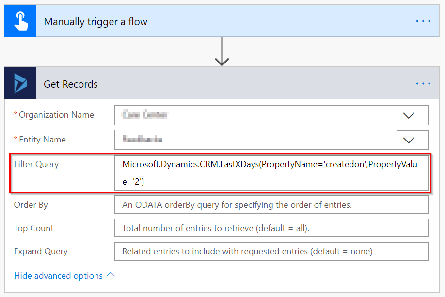 Flow with a Query Function filter