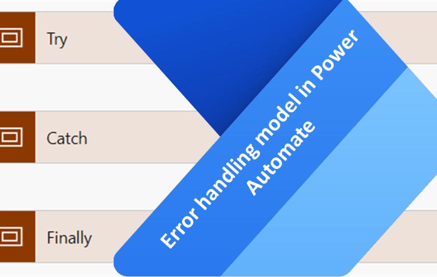 Error handling model in Power Automate