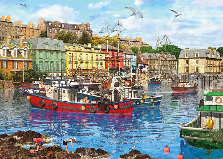 Cobh Harbour 1000 piece jigsaw puzzle-of-the-week