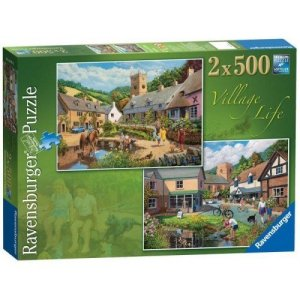 Village Life 2 x 500 piece jigsaw puzzles