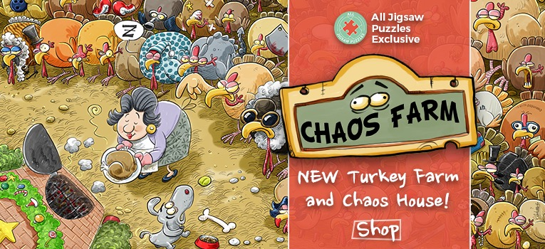 Chaos at Christmas Jigsaw Puzzle range