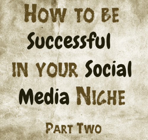 How to be successful in your social media niche part two