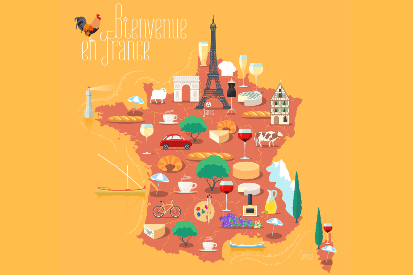 food map of France