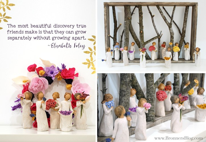 Willow Tree collectible figurines display ideas.