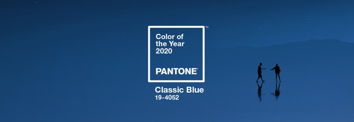 slide showing Pantone Color of the Year 2020, classic blue