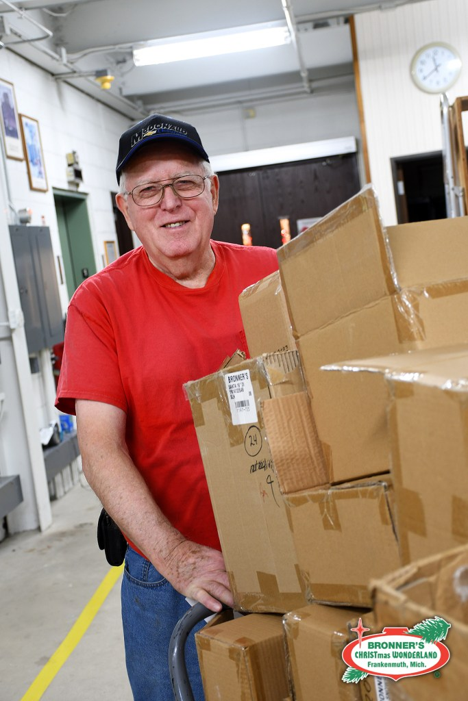 Meet Andy from Bronner's facilities and logistics team as he collects boxes for cardboard recycling