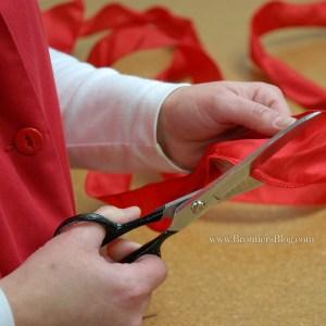 Cut Ribbon To Make A Bow