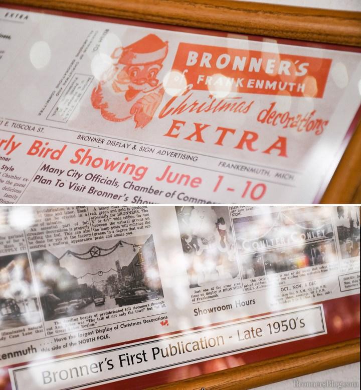 Bronners 1950s Vintage Newspaper