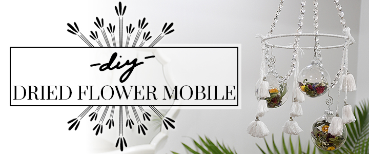 DIY Dried-Flower Ornament Mobile Decoration