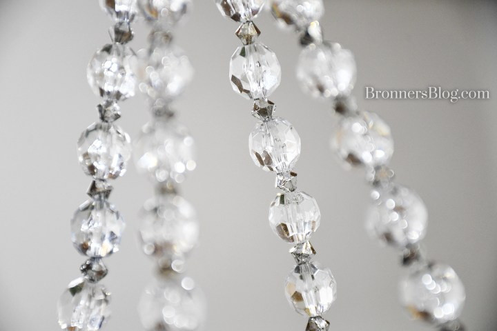 close up of faceted garland