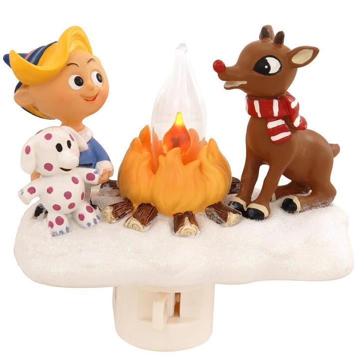 Hermie & Rudolph Campfire Nightlight for Christmas movie quiz