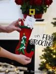 DIY Miniature Felt Stocking