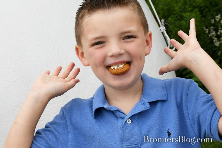 Kid eating cookie