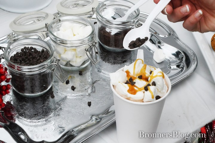 Hot chocolate with all the toppings