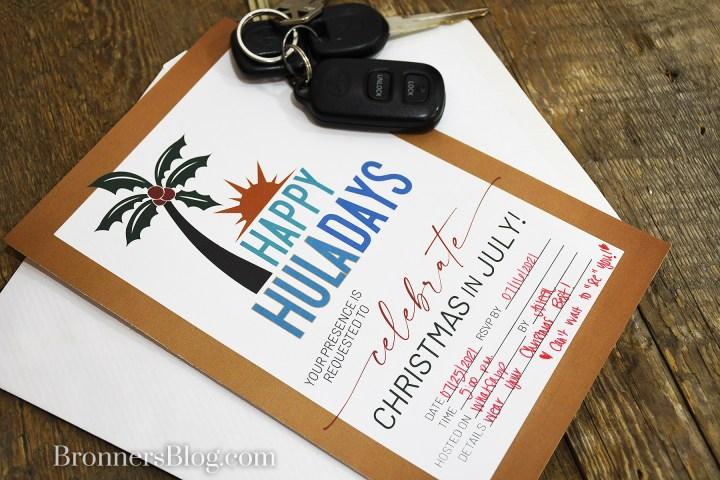 Happy Huladays Virtual Christmas Party Invite