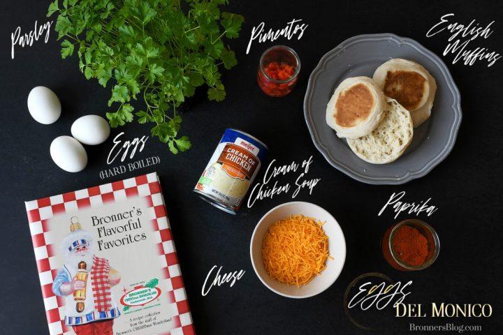 ingredients for making eggs del monico