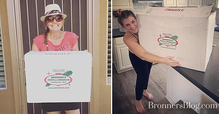 Bronner's White Shipping Boxes Bring Joy