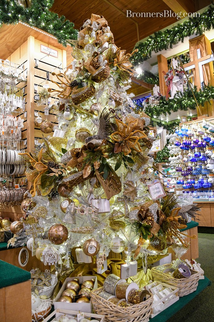Another pro tree-decorating tip is to use a branched garland in a Christmas tree to add texture and volume.