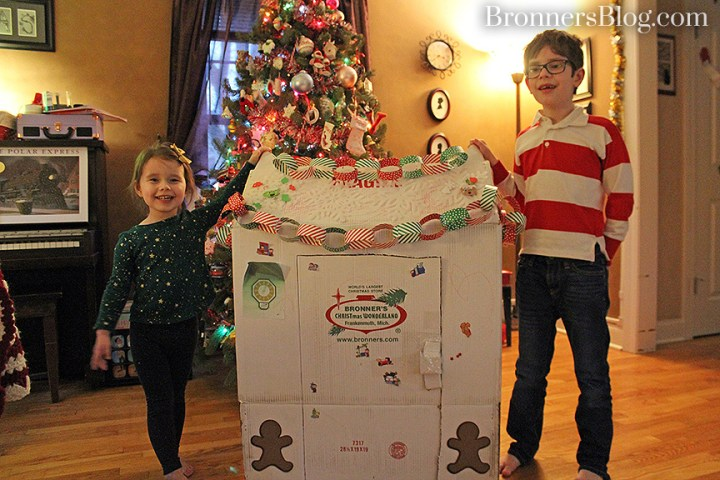 Bronner's Shipping Box Recycled Into A Wonderland For Kids