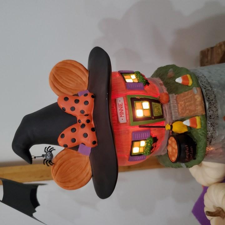 Closeup of Minnie's Pumpkintown House from Department 56