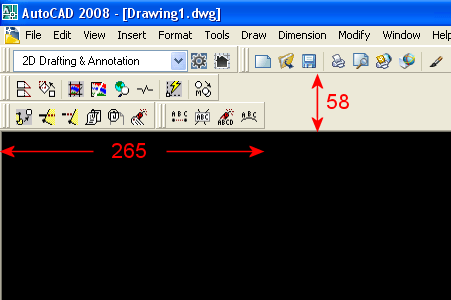 AutoCAD 2008 Docked Toolbars